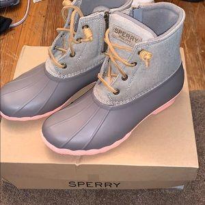 Sperry saltwater duck boots!